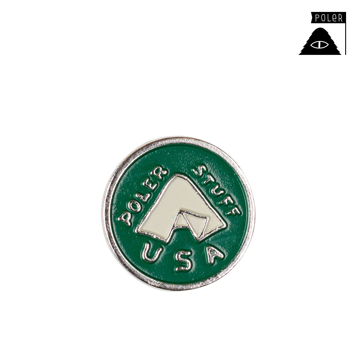 POLER LAPEL PINS/GREEN