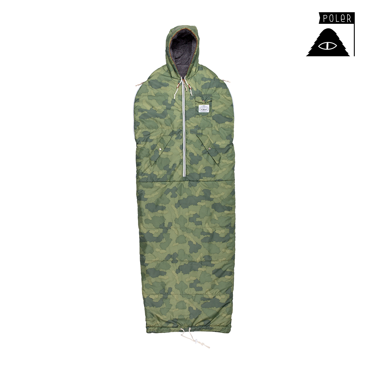 폴러 The Shaggy Napsack - Green Furrt Camo/D